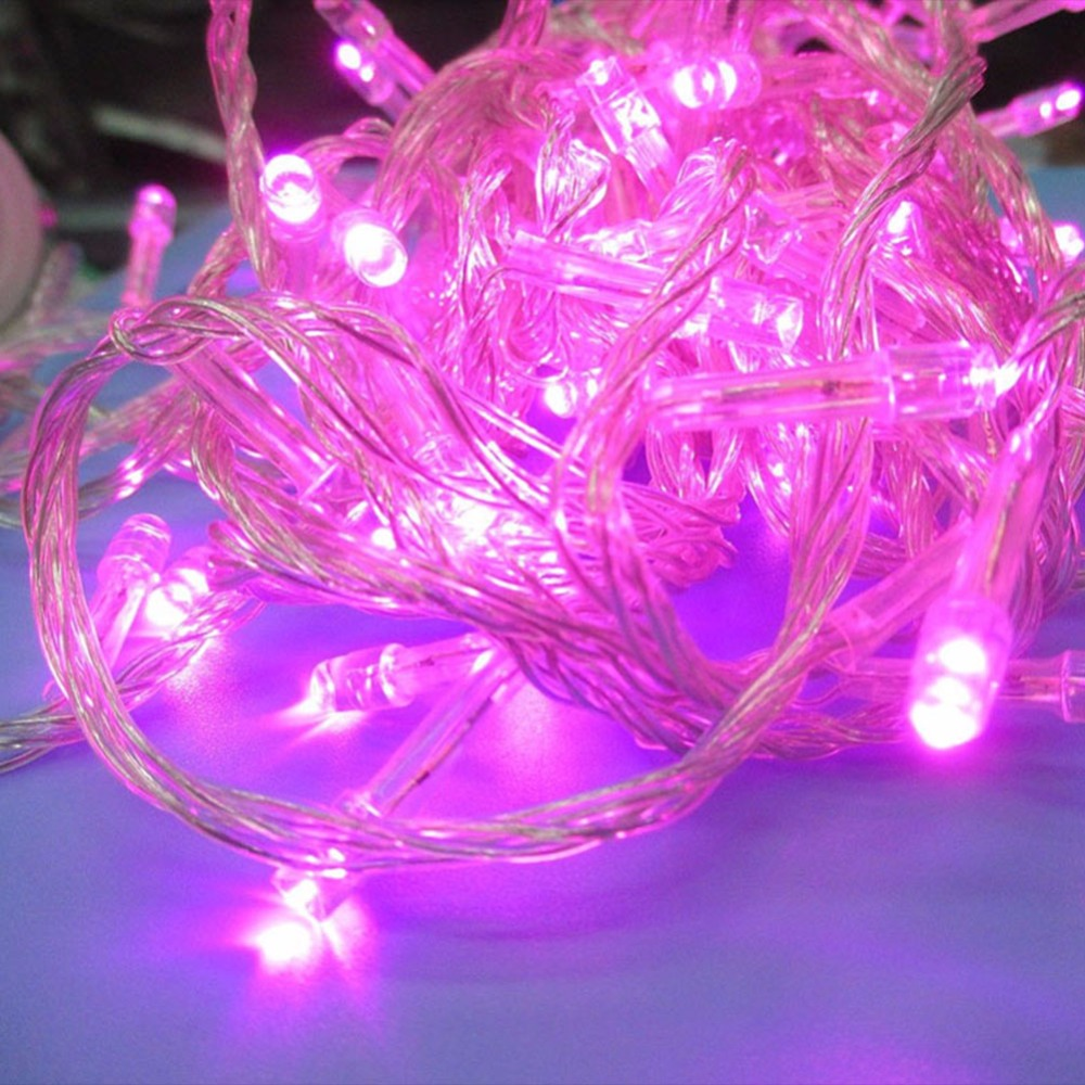 7 Color 10M 100 LED Fairy Lamp String Chain of Lights Christmas Party Wedding Decor
