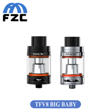 Pre-saleเดิมsmok tfv8ทารกใหญ่5มิลลิลิตรที่สามารถปรับการไหลของอากาศvs tfv8ถังทารกพอดีเครื่องฉีดน้ำสำหรับg-privชุดบุหรี่อิเล็กทรอนิกส์