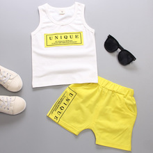 Summer baby Sets cotton boys sets letters Sleeveless T-shirts+Short Pants Sports sets kids Clothing Sets