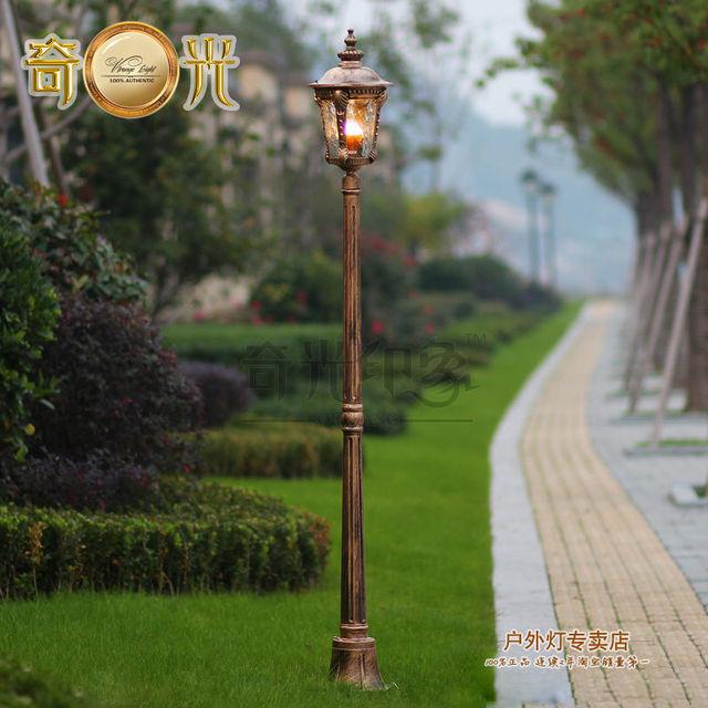 Alta pólo jardim poste de luz ao ar livre do vintage da lâmpada de rua 220 V spot exterieur levou jardin de alumínio feita de bronze/preto cor 1.8/2.2 M