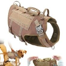 Arnés táctico militar para perros, servicio de correa para entrenamiento de perros, arnés sin tirones de malla para perros medianos y grandes, Pastor Alemán