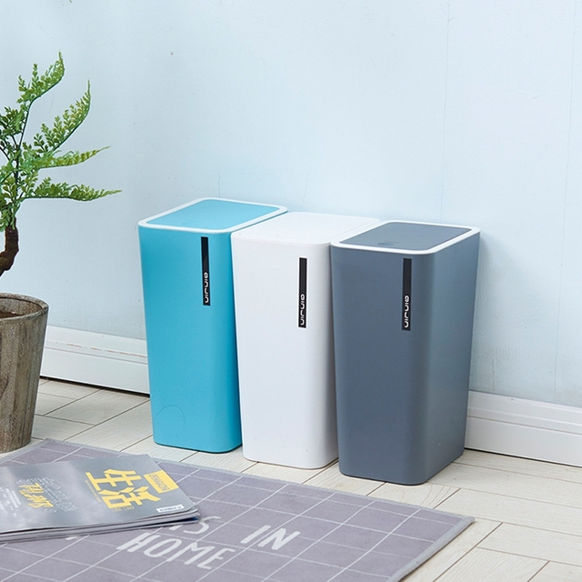 Bathroom Trash Cans Creative Fashion Bedroom Living Room Kitchen Home Plastic Waste Bins Thickened Covered Paper