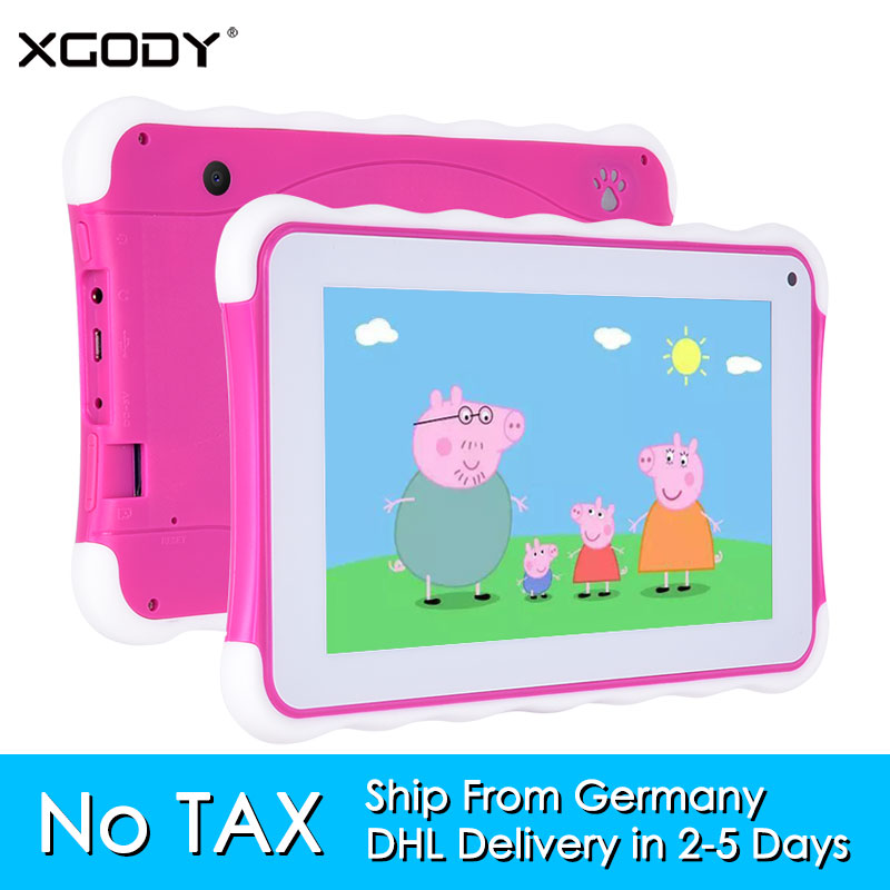 Фотография XGODY T703 Children Tablet 7 Inch Capacitive Touch Screen Android Quad Core 1.3GHz 8GB ROM Tablets PC for Kid Bluetooth OTG WiFi
