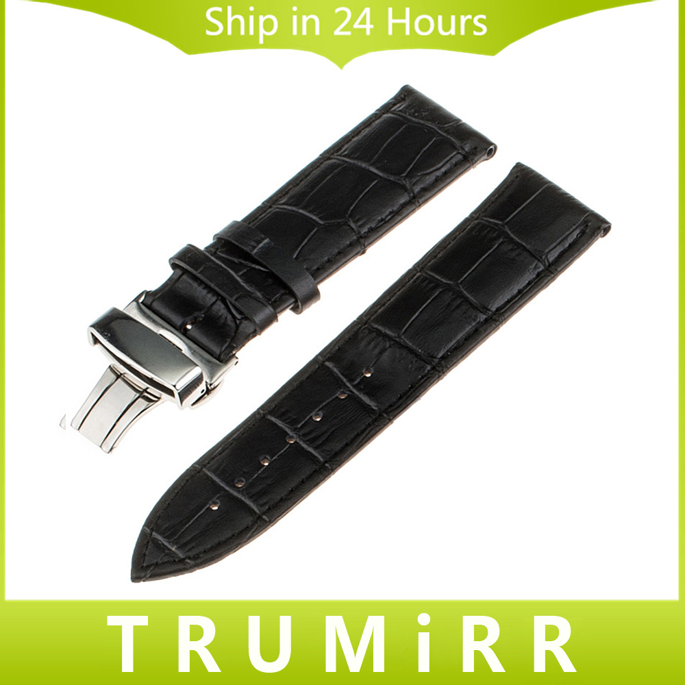 Genuine Leather Band Deployment Buckle for Asus Zenwatch 1 2 22mm LG G Watch W100 W110 Urbane W150 Replacement Strap Bracelet lg watch lg watch w150 urbane silver