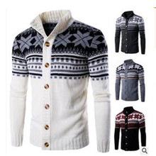 New 2017 Winter Men's Folk Style Knitted Cardigan Sweater Coat Free Shopping