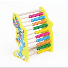Early childhood educational toys wooden frame cartoon animal rabbit calculation arithmetic abacus frame math toys