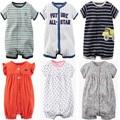 Marcas de verão macacão de bebê recém-nascido de manga curta macacões de algodão dos desenhos animados do bebê conjuntos de roupas infantis do bebê para meninas dos meninos clothing
