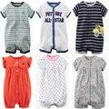 Marcas verano bebé recién nacido mamelucos de manga corta de algodón de dibujos animados mono del bebé infantil del bebé ropa para niñas niños clothing sets