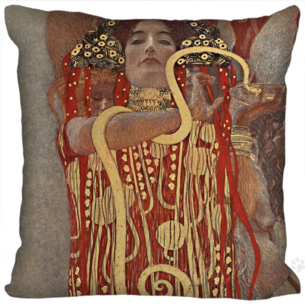 H+P#94 New Hot Custom Pillowcase Gustav Klimt #3 soft 35x35 cm (One sides) Pillow Cover Zippered SQ01003@H094