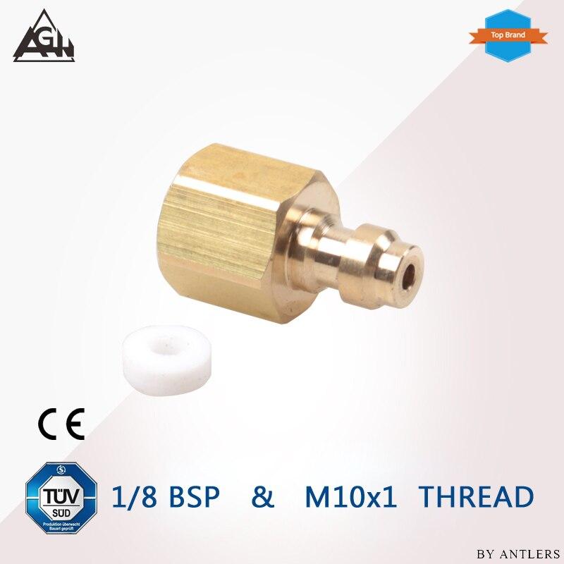 1/8 BSP M10X1 Thread  8mm Air Pcp Hand Pump Compressor Filling Paintball Airsoft Air Gun PCP Male Quick Disconnect Adapter