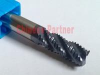 1pcs 16mm hrc45 D16*45*D16*100 Four Flutes Roughing end mill Spiral Bit Milling Tools CNC Endmills Router bits