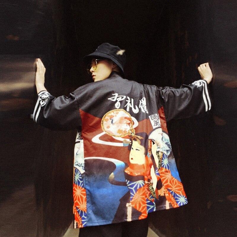 79dcd943404 Japanese kimono men cardigan shirt blouse yukata men haori obi clothes  samurai clothing male kimono Japan