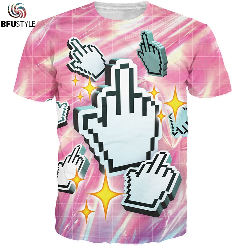 Click This T-Shirt Men Women 2018 Summer Skateboard Tee Boy Hip hop Skate Tshirt Tops All Over Printed Brand Clothing 3D T Shirt