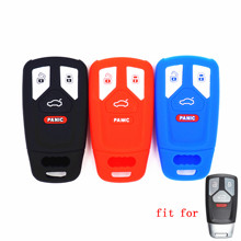 WFMJ Silicone Remote 4 Buttons Key Chain Cover Fob for 2016 2017 2018 2019 Audi A4 A5 A6 S4 B9 S5 SQ5 Q5 Q7 TT Q5L SQ7 RS R8 TTS