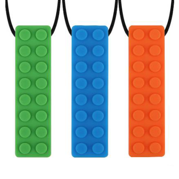 New Autism Chew Necklace Sensory Toys for Autism Chewy Silicone Brick Teether..