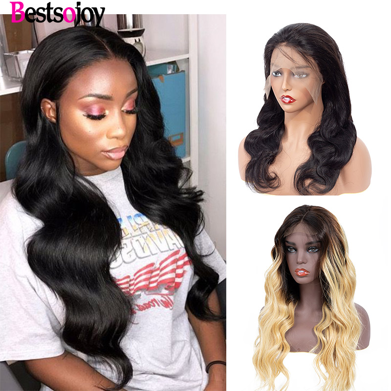 Bestsojoy Brazilian Body Wave Lace Front Human Hair Wig Pre Plucked For Black Women Lace Front