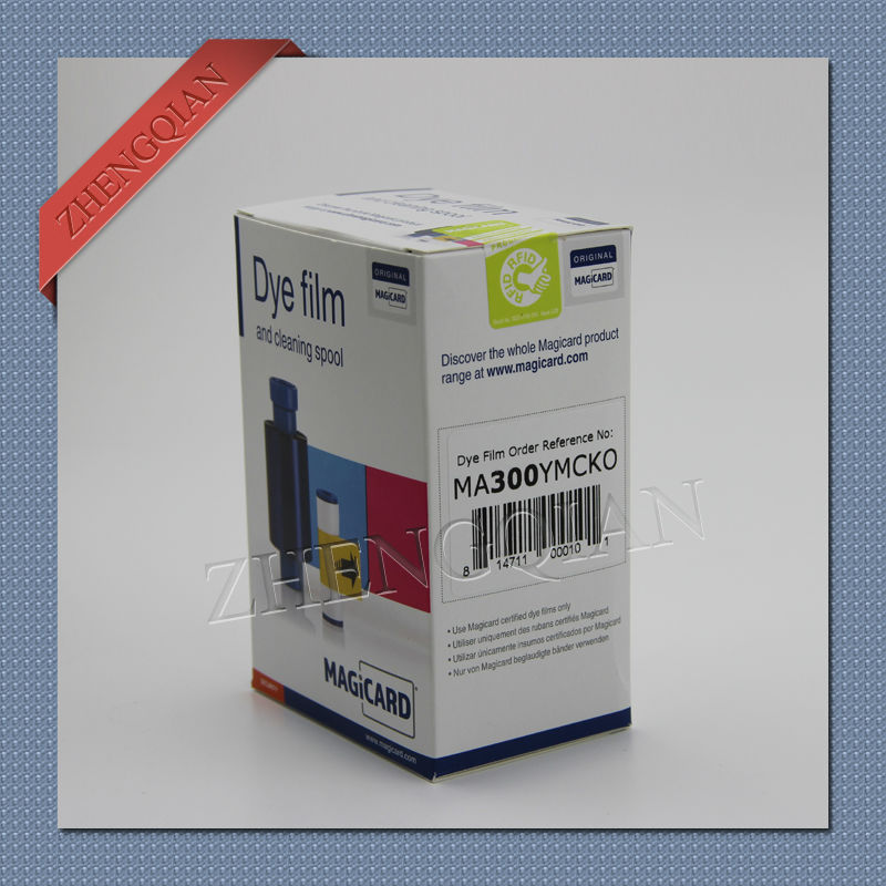Original Magicard MA300 YMCKO color ribbon 300 images for Pronto ,Enduro+,Rio Pro id card printer