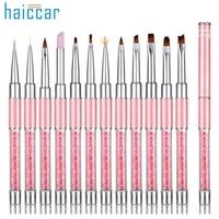 Beautiful Women Hot Professional 12pcs UV Gel Nail Painting Drawing French Tips Manicure Pen Brush Design DX28