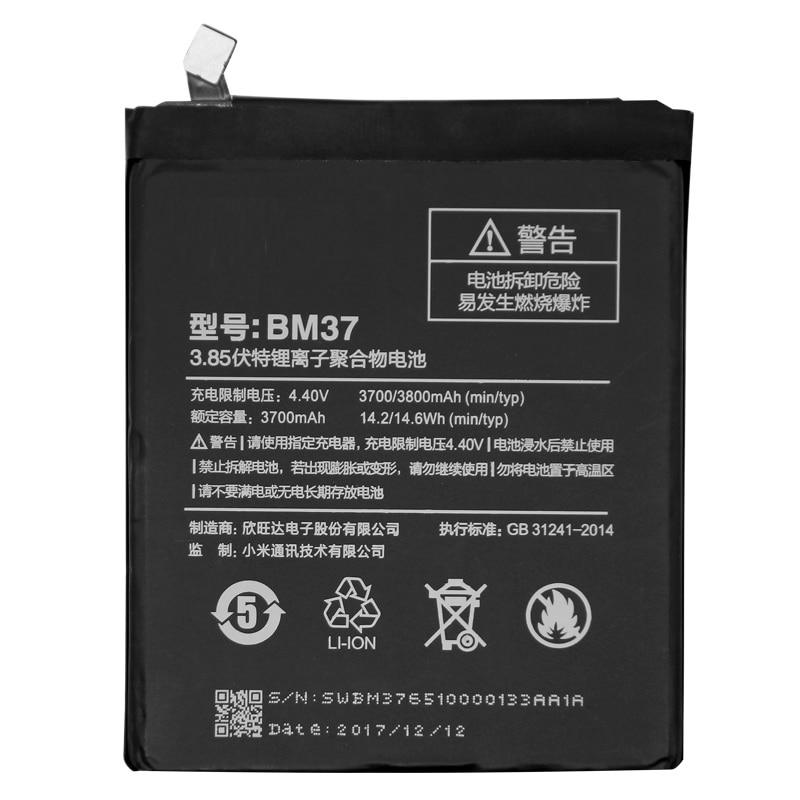 BM37 For Xiaomi Mi 5s Plus International Version Cellphone Battery 3800mAh High Capacity PCB Lithium Polymer Battery