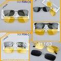 Низкая цена смешанный оптовая продажа клип на солнцезащитные очки 5 шт./лот с ночного вождения клип на зонт
