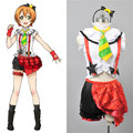 Japonês Perucas Anime Love Live Hoshizora Rin Cosplay trajes amor ao vivo escola Idol projeto vestido