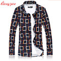 Men 100% Mercerized Cotton Shirts Brand Plus Size 5XL 6XL 7XL Slim Fit Autumn long Sleeve Breathable Plaid Dress Shirts F2301