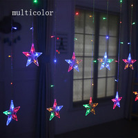 2M LED Christmas Light AC220V EU Romantic Fairy Star LED Curtain Star String Lights For Holiday