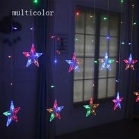 2M LED Christmas Light AC220V EU Romantic Fairy Star LED Curtain Star String Lights For Holiday