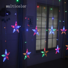 2M LED Christmas Light AC220V EU Romantic Fairy Star LED Curtain Star String Lights For Holiday Wedding Garland Party Decorati цена и фото