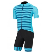 Ropa ciclismo 2018 Team Pro short sleeve cycling set New bicycle riding apparel Men blue sky cycling Jersey and bib shorts kits