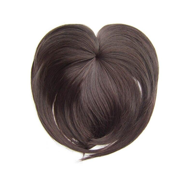 Gres Natürliche Gerade Synthetische Haarteile Hohe Temperatur Faser 18 Farben Frauen Clip-in Mittelscheitel Pony
