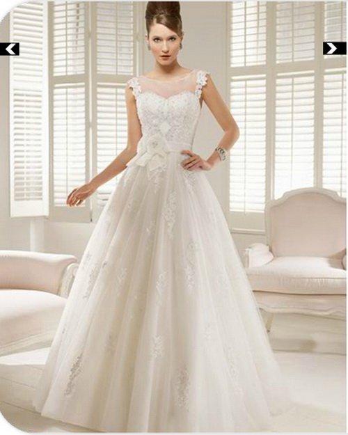 2013 Free shipping!ball gown floor-length appliques scoop sash flower sleeveless empire zipper tulle bridal dress wedding dress