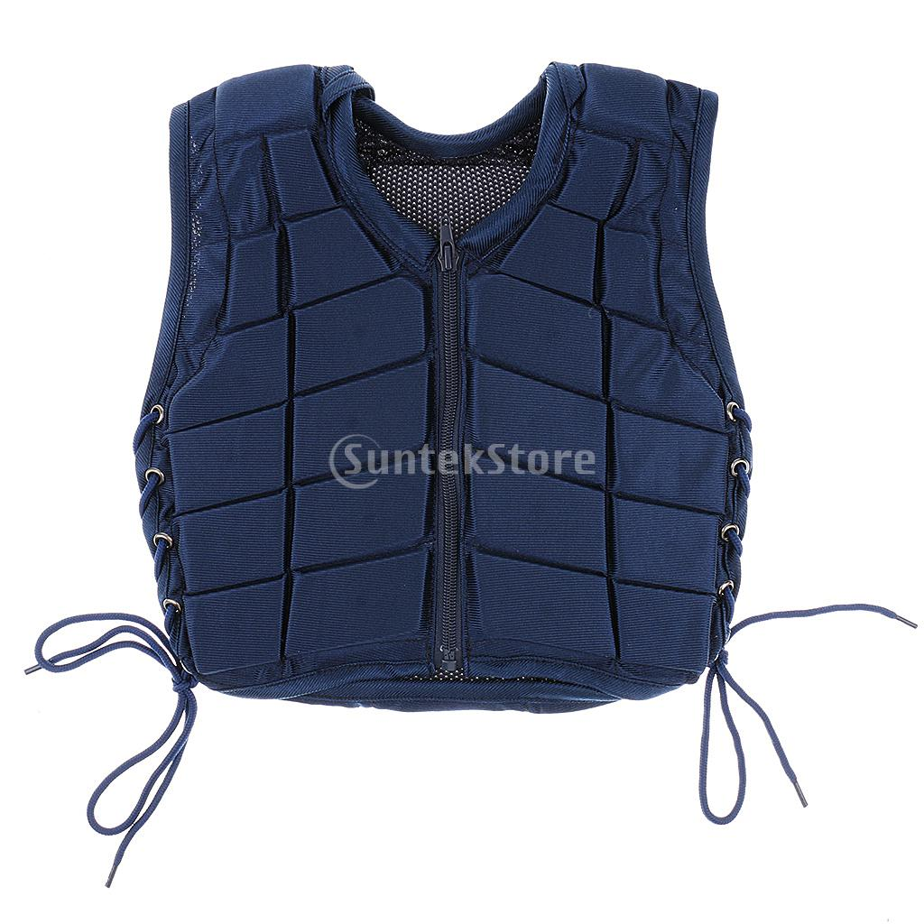 Safety Equestrian Horse Riding Vest Protective Body Protector Navy Youth safety equestrian horse riding vest protective body protector black adult sportswear camping hiking accessories shock absorption