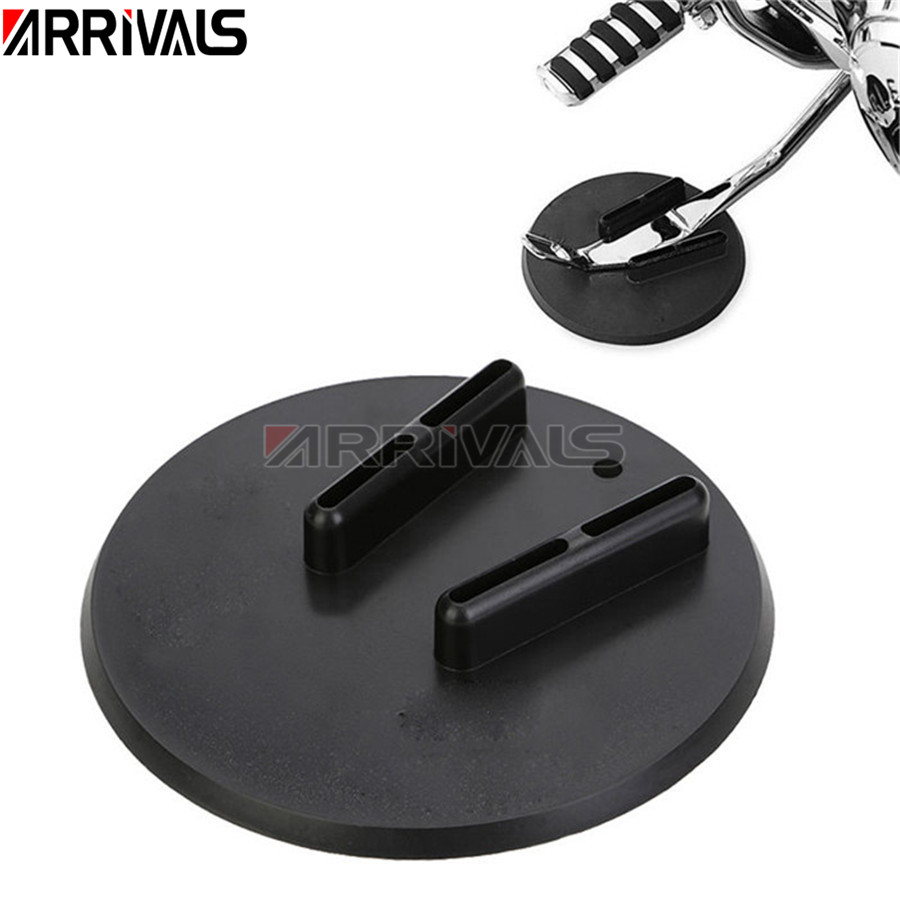 1pc Motorcycle Side Kickstand Jiffy Stand Coaster Pad Puck For Harley Touring Sportster Dyna