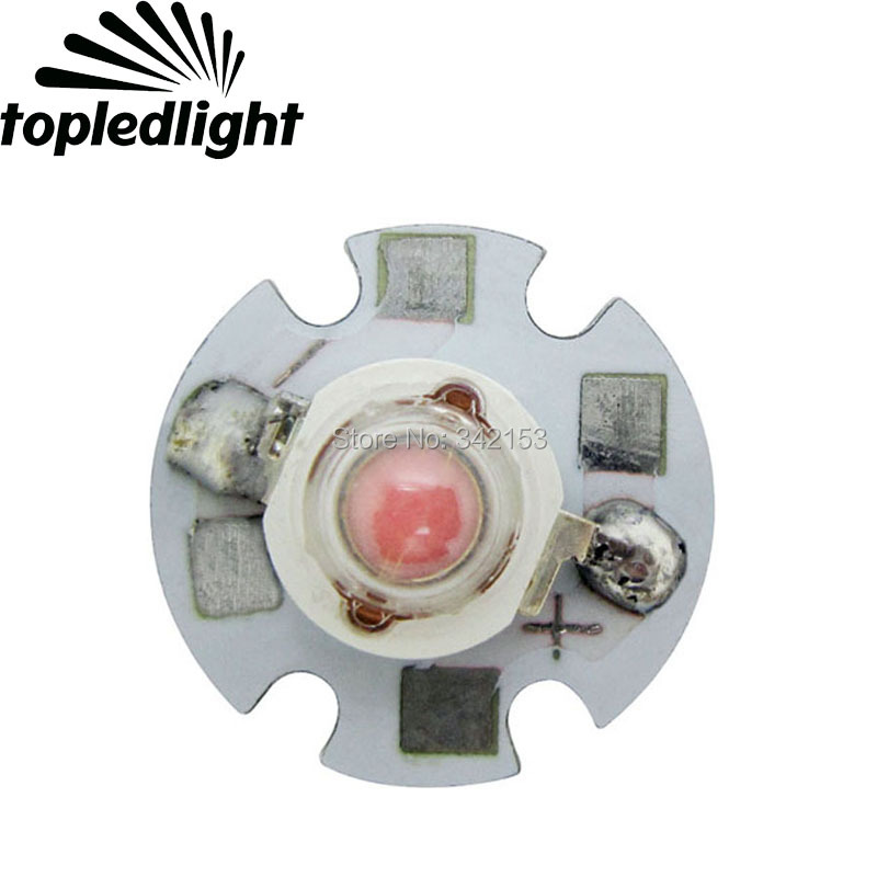 Free Shipping 1W-3W High Power Led Chip Pink Led Emitter 3.2-3.5V 350-700mA 50LM On 16MM Aluminum PCB Board For Led Downlight