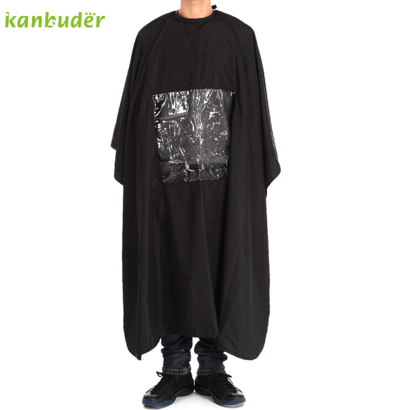 Kanbuder New Square transparent Black Cutting Hair Waterproof ClothSalon Barber Gown Cape Hairdressing Hairdresser 1PC