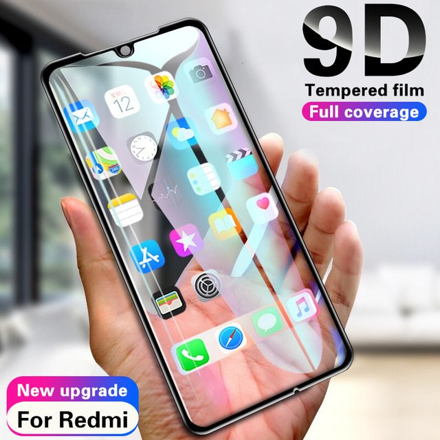 9D Tempered Glass For Xiaomi Redmi note 7 6 5 Pro Screen Protector For Redmi 6 6A 5 5A 5 Plus S2 Glass Protective Film On note 7
