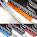 4PCS For Ford Fiesta 2009-2014 Door Scuff Sill Plates Step Plate Protector carbon fiber vinyl sticker sticker car accessories