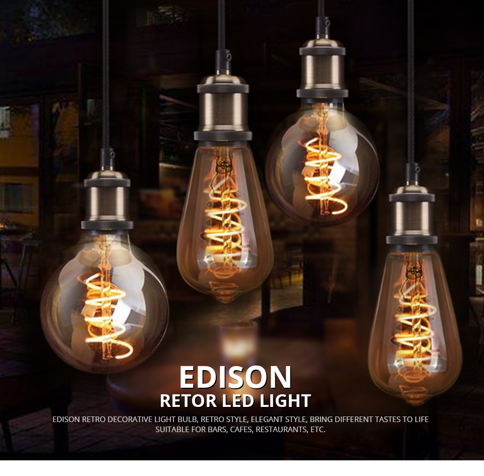Dimmable Ampoule Led E27 220v Spiral Lampe Led Filament Lamp Light