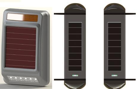 Solar Powered Active Wireless Infrared Detector Perimeter Protection Courtyard Security On Spot Alarm Siren and Strobe wholesale