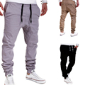 Mens Joggers Brand Male Trousers Men Pants Casual Solid Pants Sweatpants Jogger khaki Black