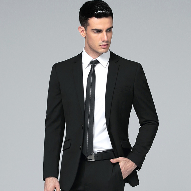 High Quality New Groom Tuxedos Suits Men Prom Suits Formal Wear ...