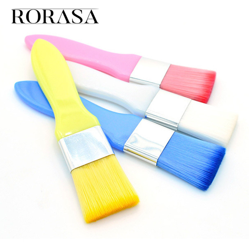 Silicone Mask Brush 4 Colors <font><b>Beauty</b></font> Facial Brush Professional Foundation Powder Makeup Brush Women Cosmetic Kit Makeup Brush image