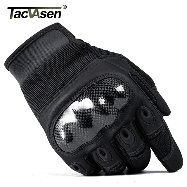 TACVASEN Military Tactical Gloves Men Airsoft Army Combat Gloves Hard Shell Leather Full Finger Shoot Hunt Work Paintball Gloves 5