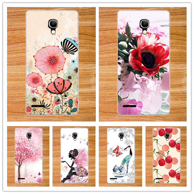 Painted Beautiful Flowers 10 Patterns DIY Cases Back Cover For <font><b>Alcatel</b></font> One Touch Pop 2 5 7043K 7043A <font><b>7043Y</b></font> 7044 Premium LTE Case image