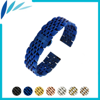 Stainless Steel Watch Band 22mm for Samsung Gear Sport S4 Butterfly Buckle Strap Quick Release Loop Belt Bracelet
