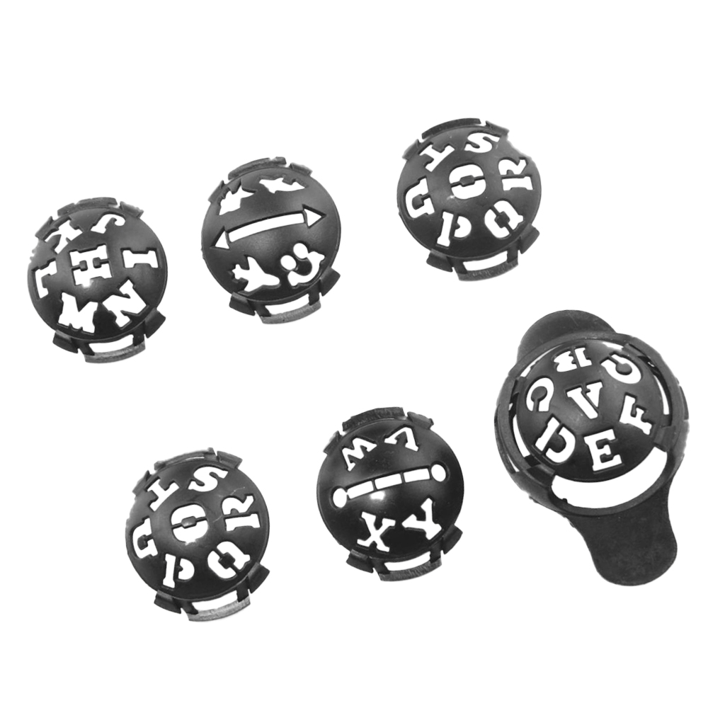 6Pcs Liner Marker Template Drawing Mark Alignment Tool For Putting Training Golf Ball Alignment Tool