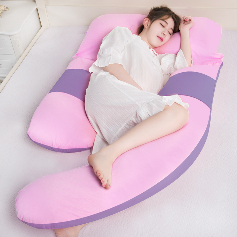 Multifunction Big Pregnancy Pillow Maternity Full Body Bedding Pillow Comfortable U-Shape Cushion For Side Sleepers,170*110*80cm