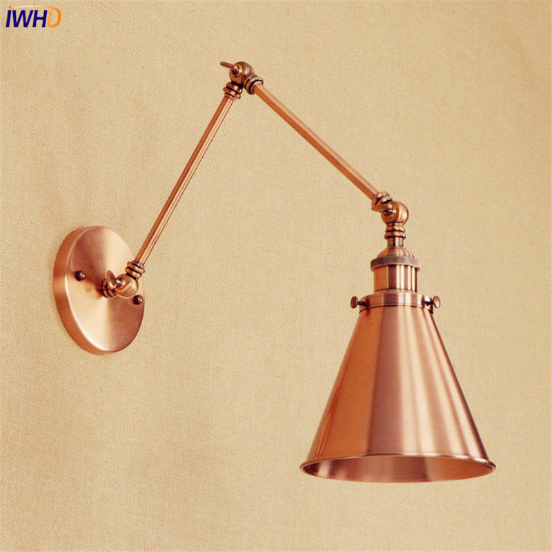 Loft Industrial Retro Wall Lights LED Edison Stair Lighting Wandlamp Adjustable Swing Long Arm Wall Light Arandela De Parede