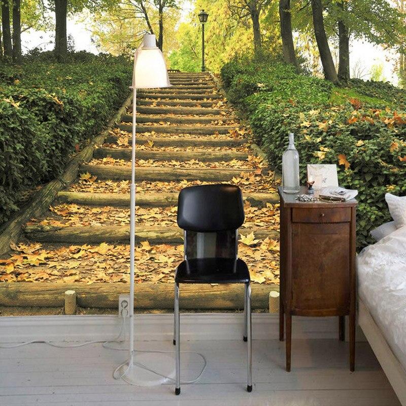 beibehang d foto wallpaper moderno parque forestal maderas escalera escalera mural tv fondo de la